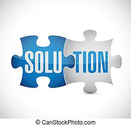 puzzle, conception, solution, illustration
