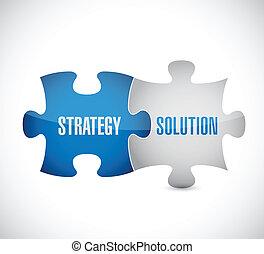 puzzle, conception, solution, illustration, stratégie