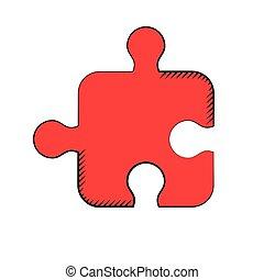 puzzle, créativité, solution, stratégie