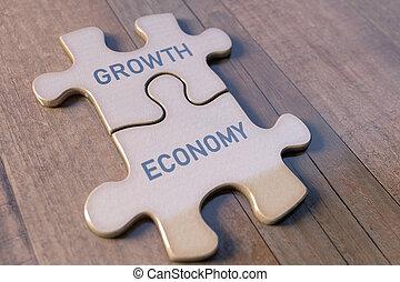 puzzle, croissance, business, économie