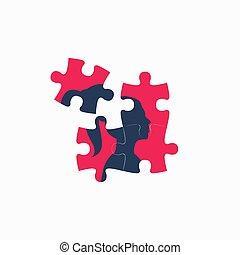 puzzle, femme