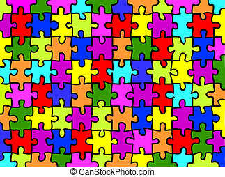 puzzle, fond
