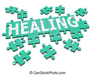 puzzle, guérison, 3d
