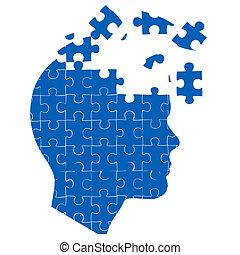puzzle, puzzle, esprit, homme