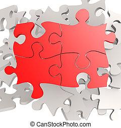 puzzle, puzzle, rouges