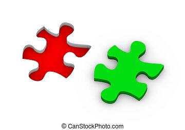 puzzle, solution, 3d