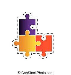puzzle, solution, image, stratégie
