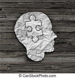 puzzle, tête, solution