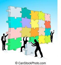 puzzle, tridimensionnel