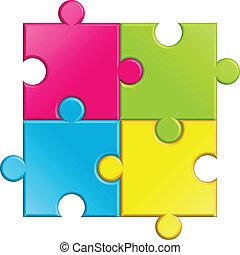 puzzle, vecteur, illustration