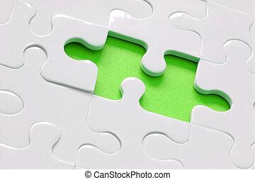 puzzle, vert, chaux