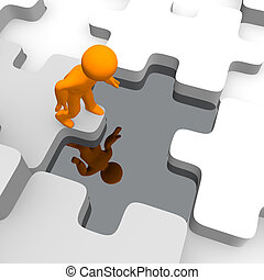 puzzles, réflexions