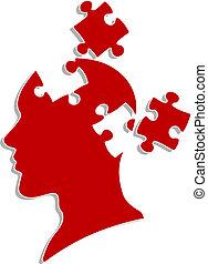 puzzles, tête, gens