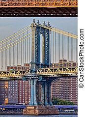 pylône, york, pont, nouveau, manhattan