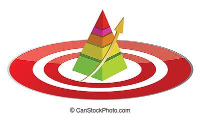 pyramide, cible, illustration