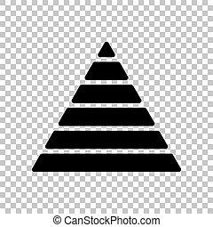 pyramide, illustration., signe., arrière-plan., noir, maslow, transparent, icône