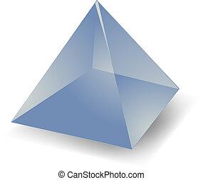 pyramide, translucide