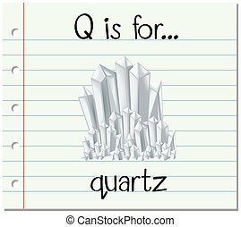 q, flashcard, quarts, lettre