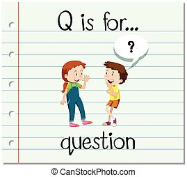 q, flashcard, question, lettre