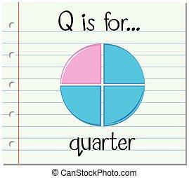 q, flashcard, trimestre, lettre