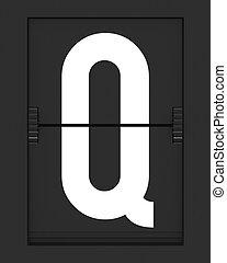 q, horaire, planche, lettre, mécanique