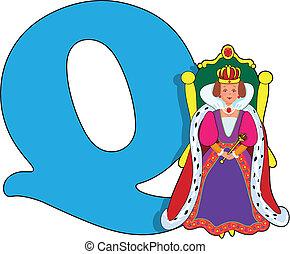 q, reine, lettre