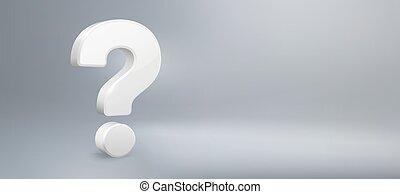 qa., vecteur, questions, question, réaliste, avoir, signe, faq, fond, mark., question, illustration, 3d