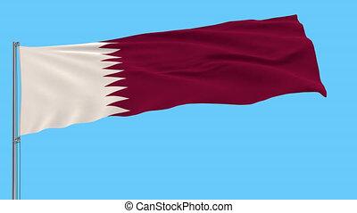 qatar, métrage, isoler, prores, drapeau, mât, transparence, alpha, 4k