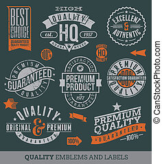 qualité, étiquettes, guaranteed