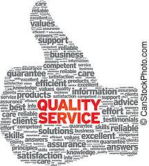 qualité, service