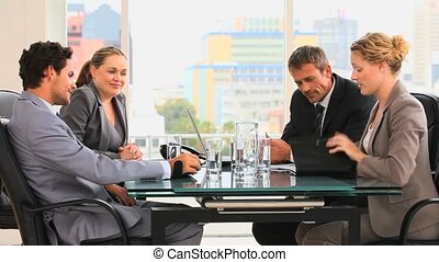 quatre, business, peopl, réunion, entre