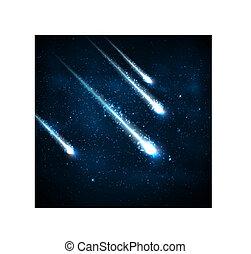 quatre, comètes