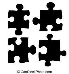 quatre, puzzle