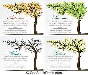 quatre saisons, arbre, fantasme