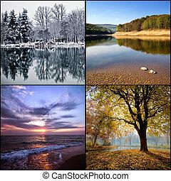 quatre saisons, collage