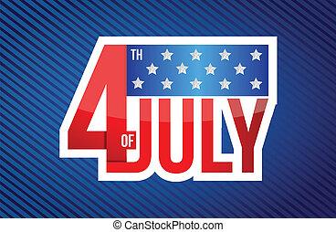quatrième juillet, signe