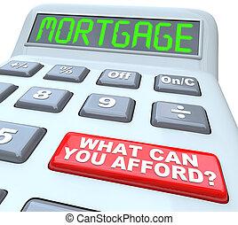 quel, hypothèque, fournir, calculatrice, -, boîte, mots, vous