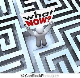 quel, perdu, confondu, signe, personne, tenue, labyrinthe, maintenant