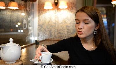 quelqu'un, girl, conversation, jeune