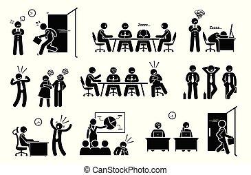 question, paresseux, inutile, workplace., toile, millennials, social