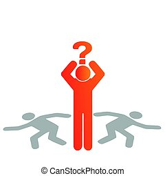 question, vecteur, silhouette, illustration, homme