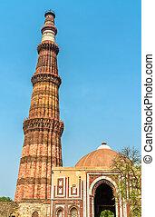 qutub, qutb, inde, minar, complexe, delhi, alai, darwaza