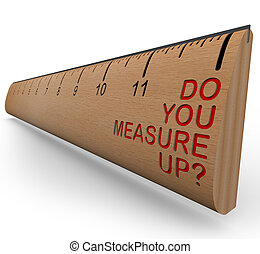 règle, vous, mesure, -, up?