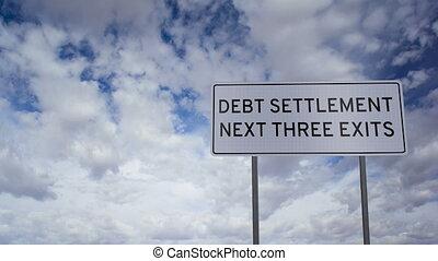 règlement, nuages, timelap, dette, signe