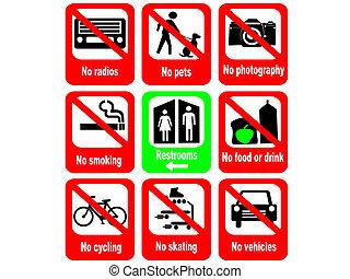règles, attraction, touriste