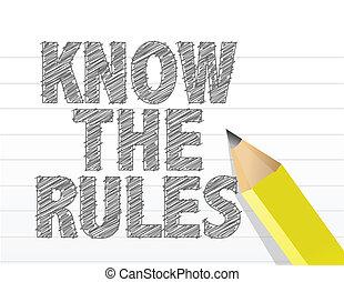 règles, bloc-notes, écrit, papier, savoir, vide
