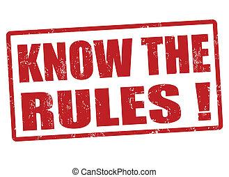 règles, timbre, savoir