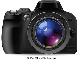 réaliste, appareil photo, numérique