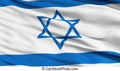 réaliste, drapeau israël, vent