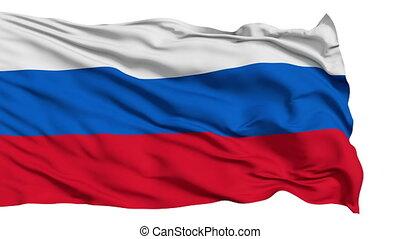 réaliste, drapeau, russie, vent